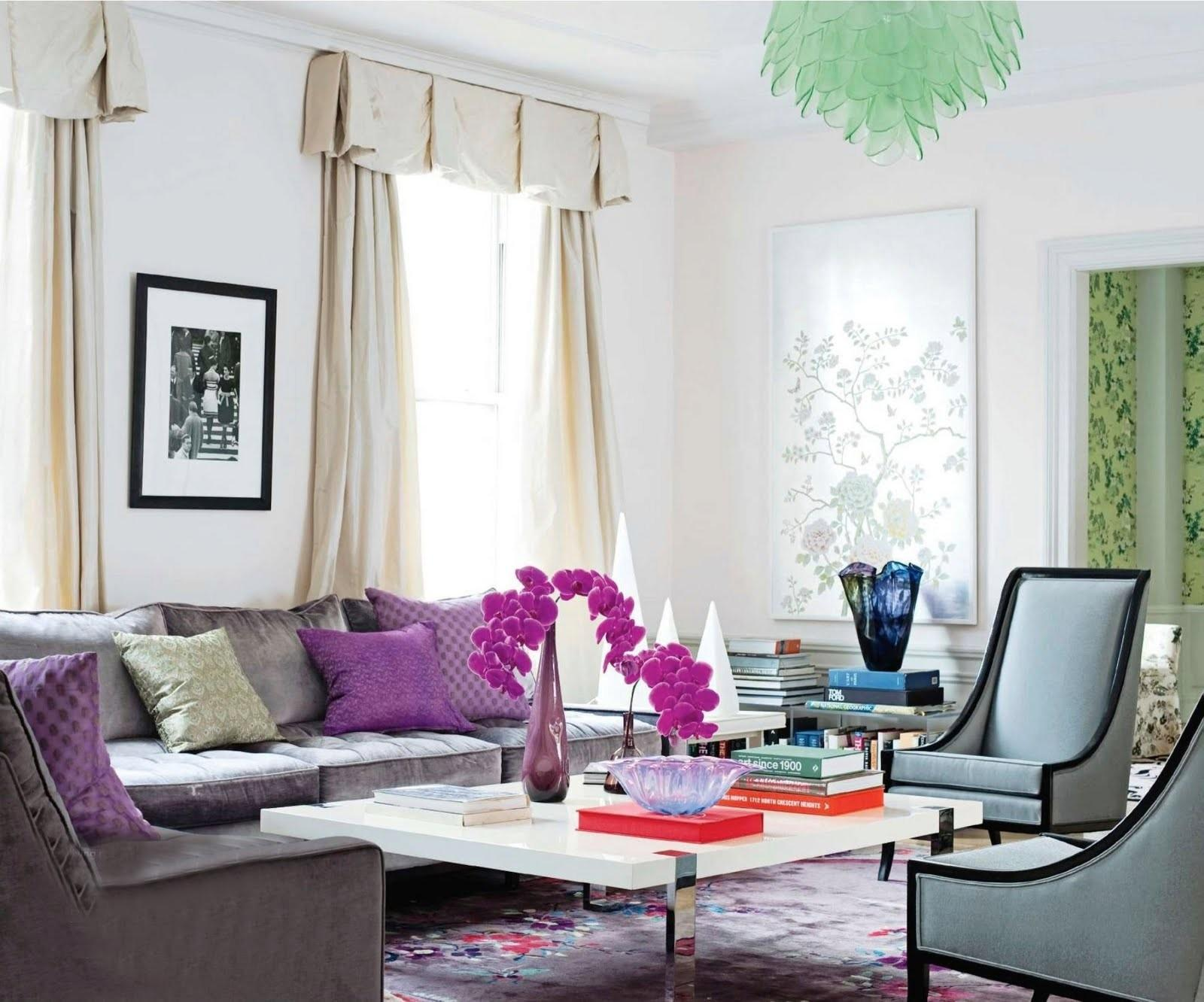 Living Room Ideas Grey Purple Modern House