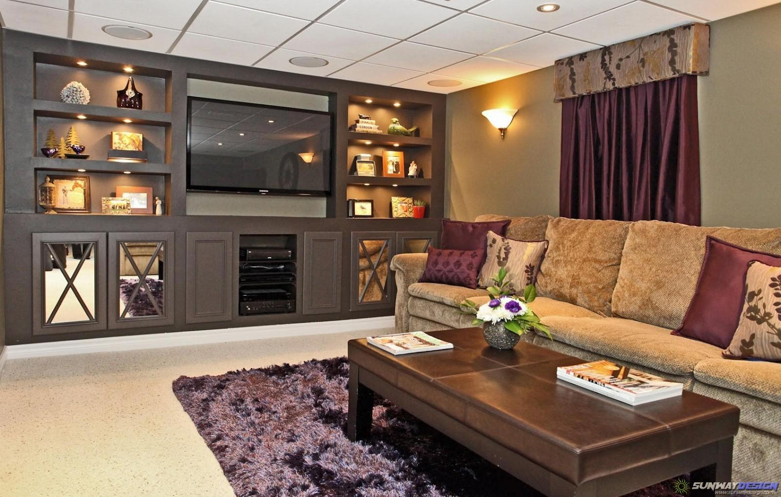 Living Room Ideas Samples Layout Basement