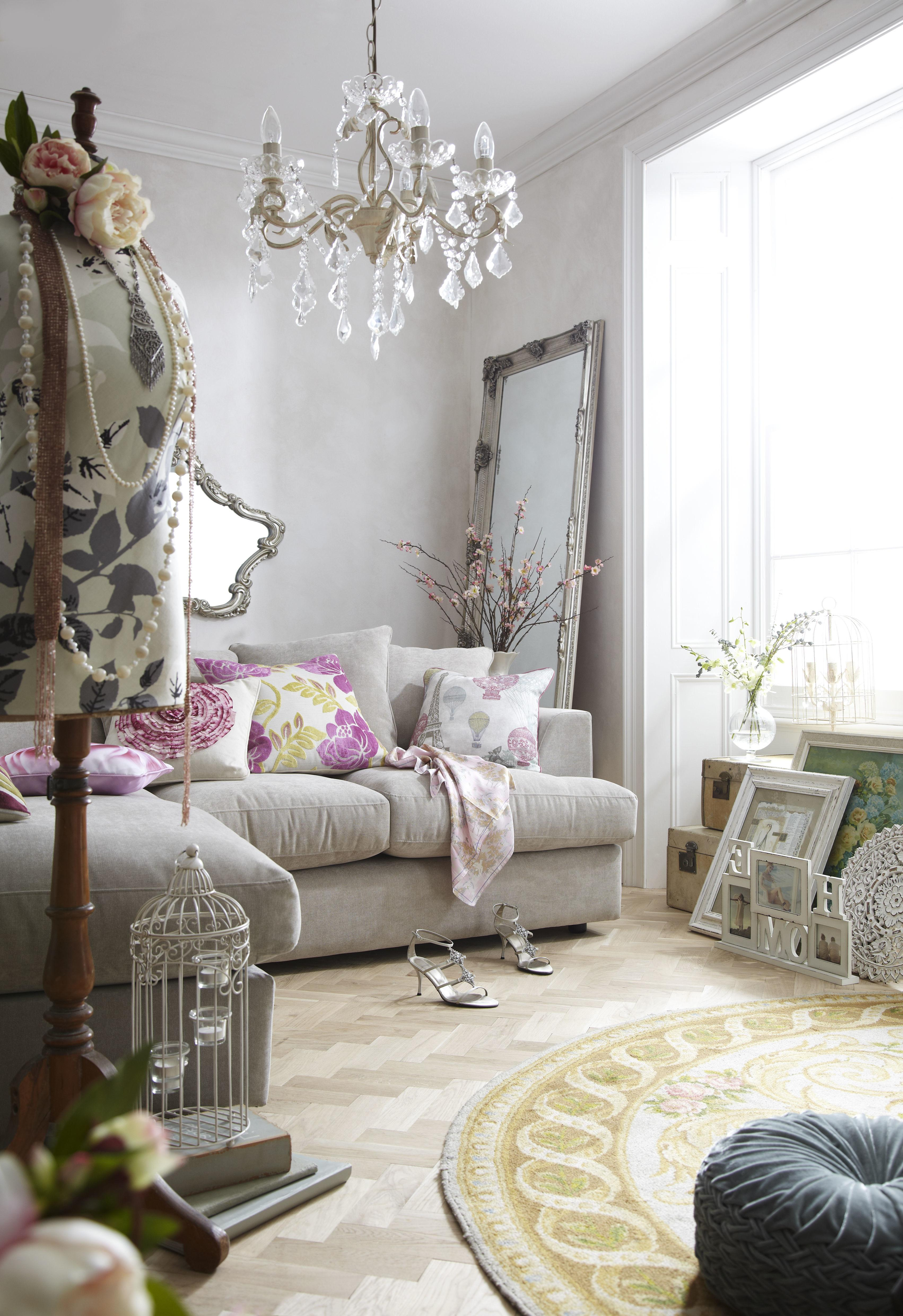 Living Room Interior Vintage Ideas Purple