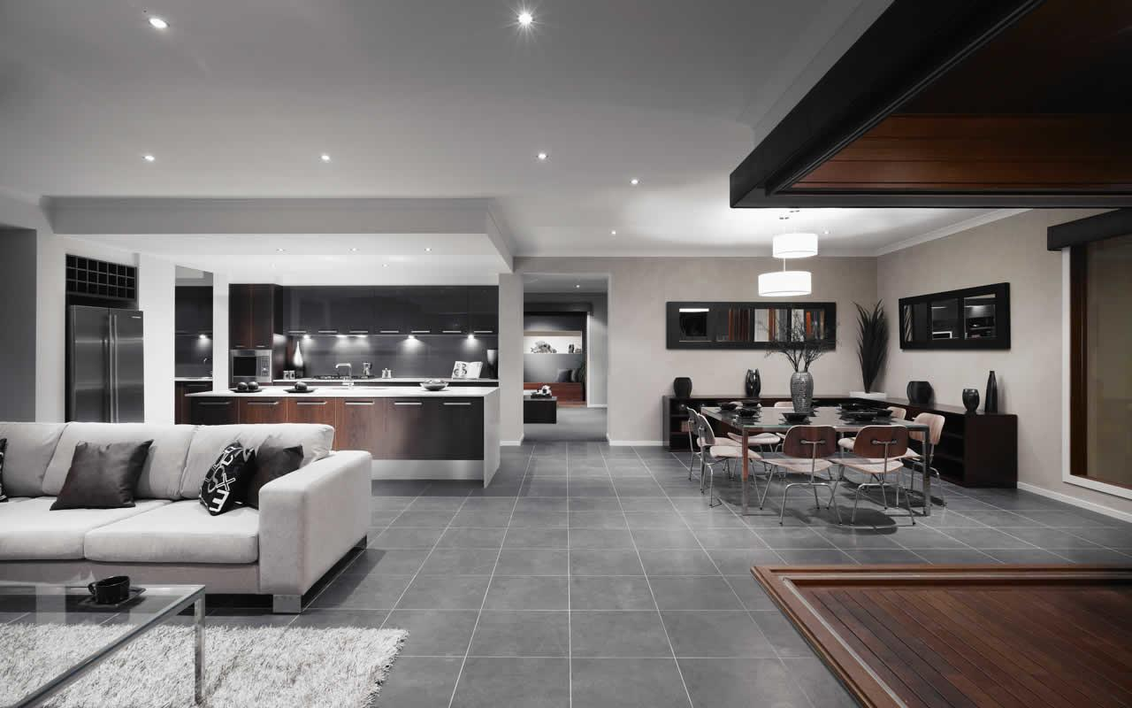 Living Room Kitchen Dining Ideas Modern House