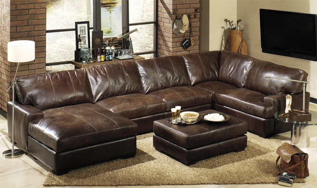 Living Room Leather Sectional Sofas
