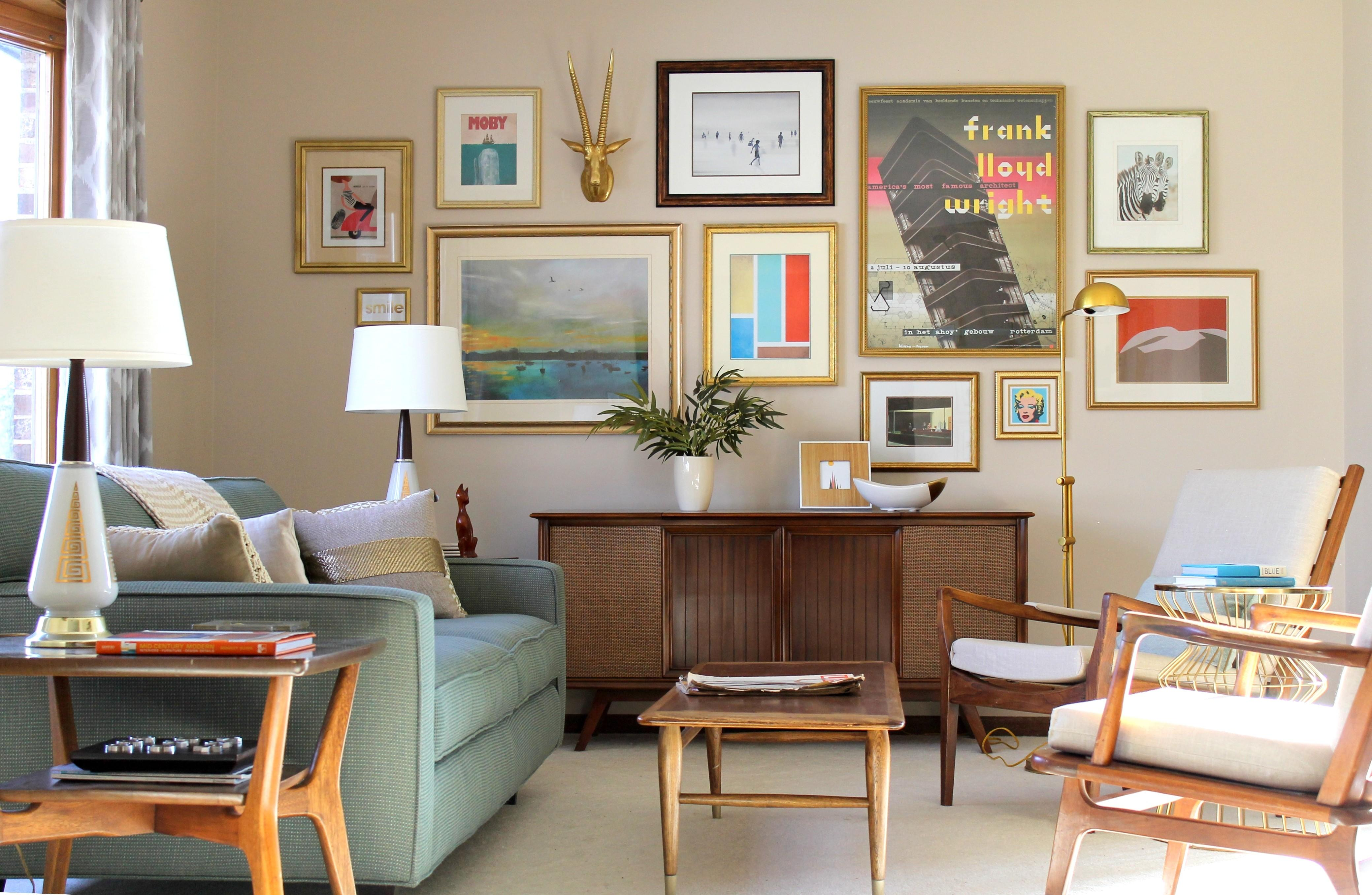 Living Room Make Over Your Space Mid Century