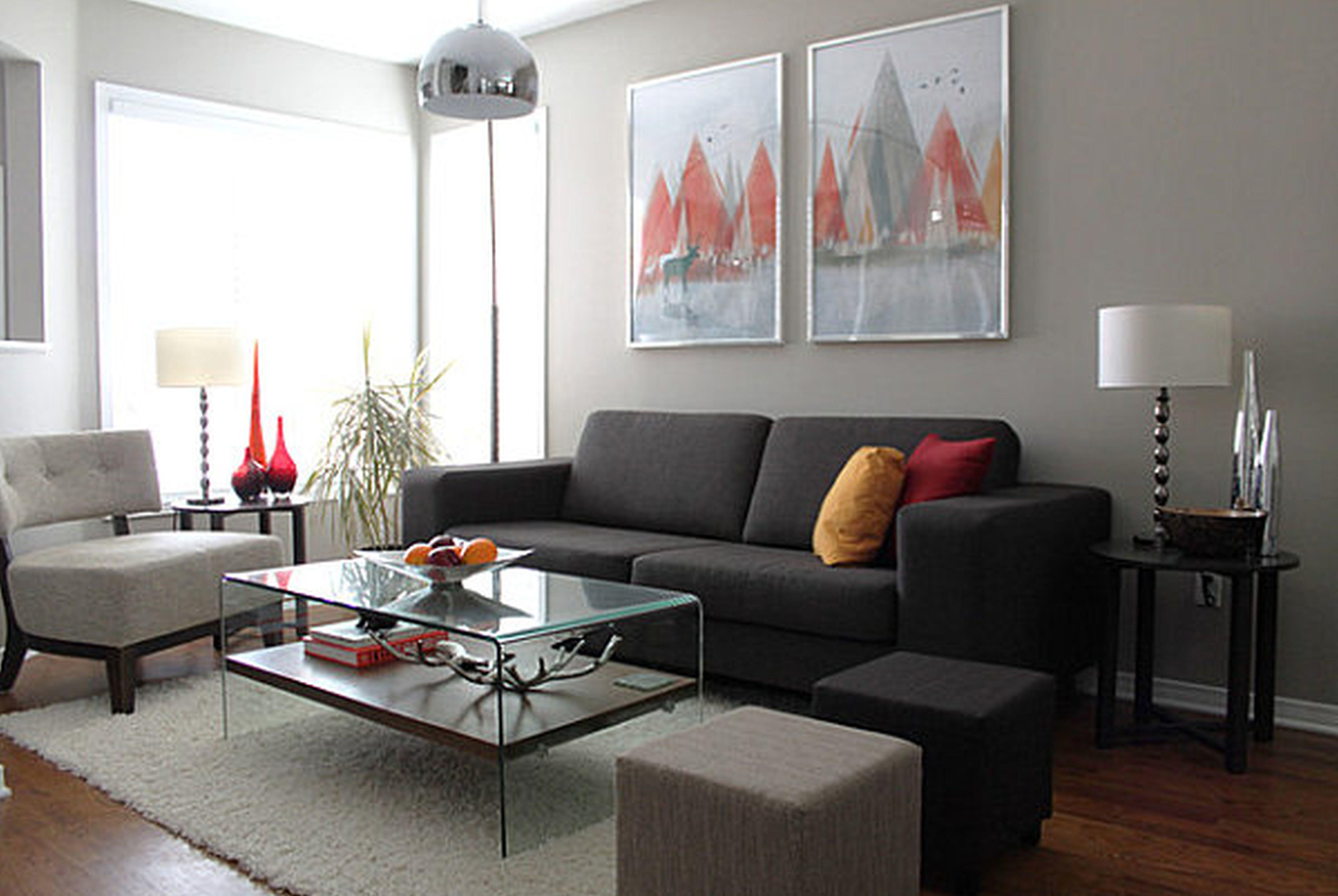 Living Room Modern Apartment Decorating Ideas Fireplace