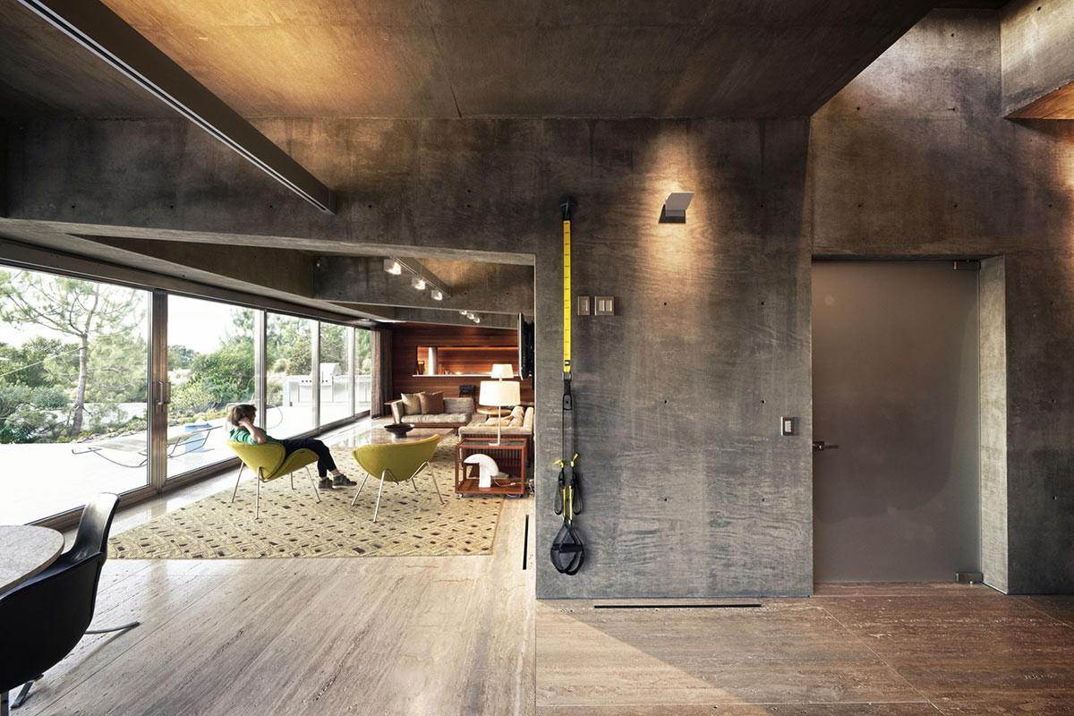 Living Space Concrete Walls Extraordinary Contemporary