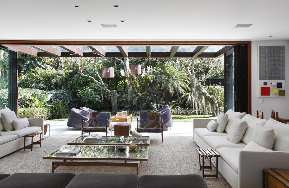 Living Space White Sofas Colonial Style House Renovation