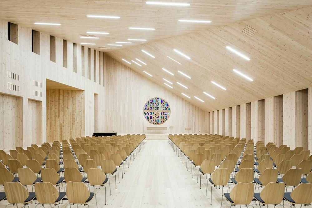 Local Community Church Within Norway Shows Iconic Angles