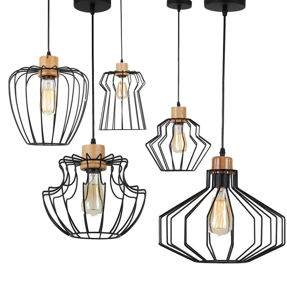 Loft Pendant Lamp Diy Industrial Ceiling Light Geometric