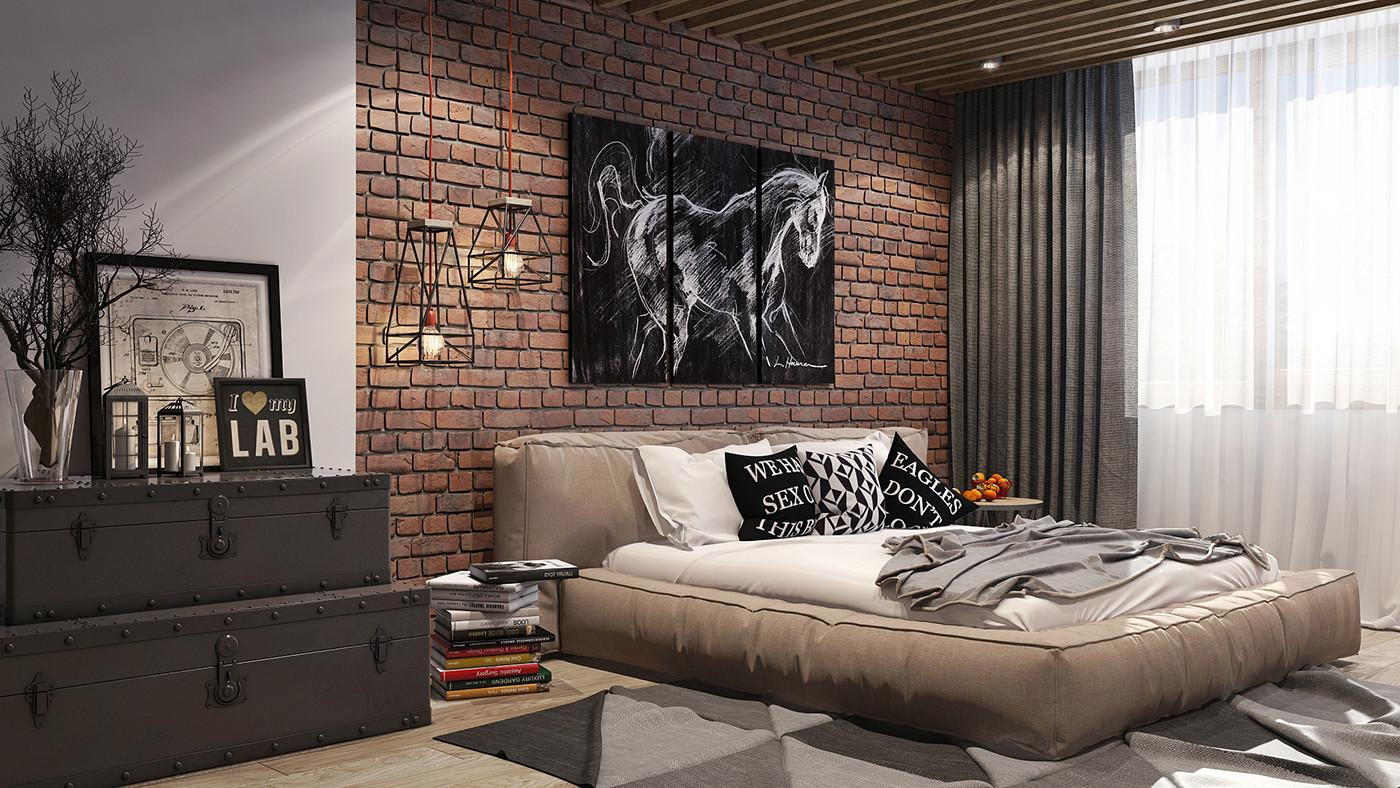Loft Style Bedroom Behance