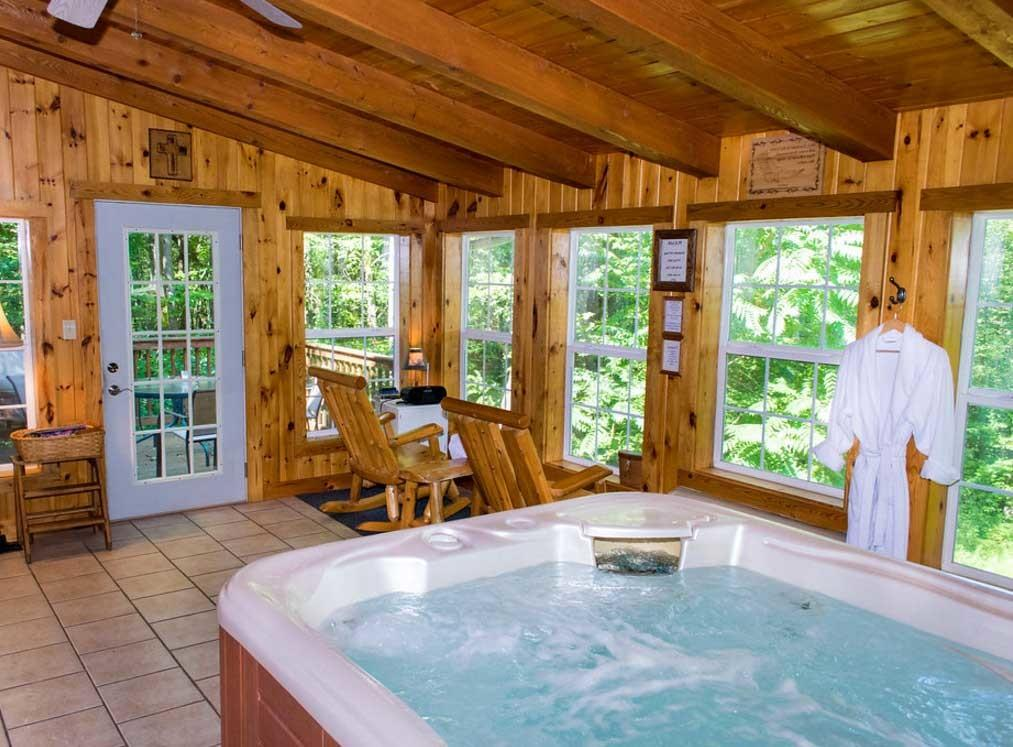 Log Cabin Indoor Hot Tub Ideas Home Design Decoratorist 61807