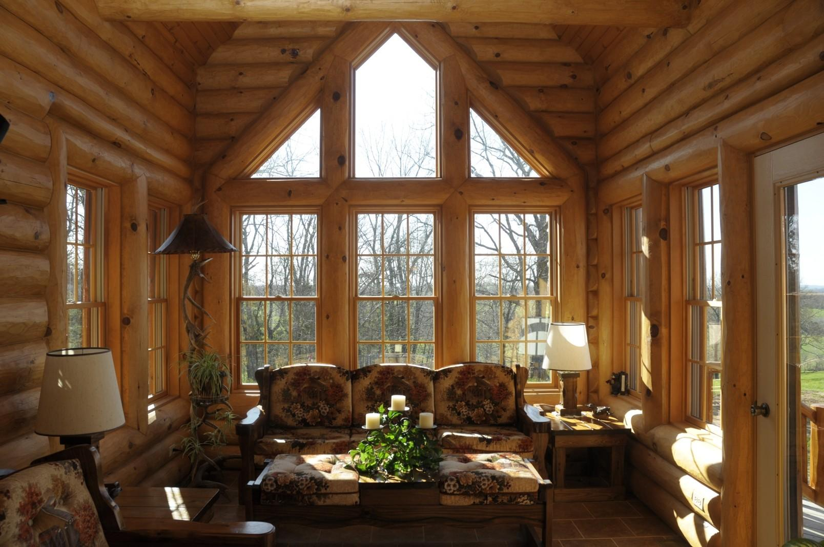 Log Home Love Loft Office Homes