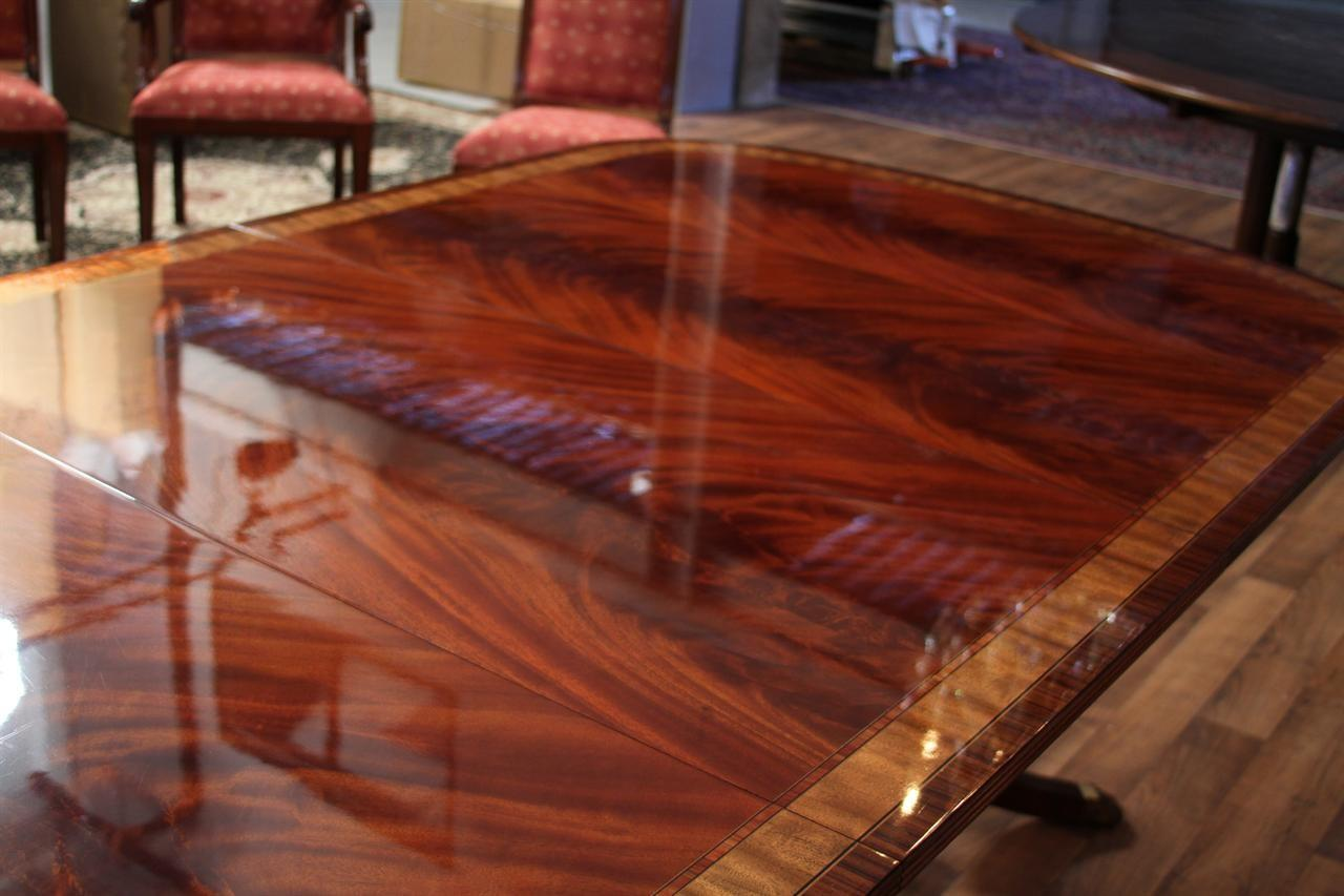 Long High End Mahogany Double Pedestal Dining Table