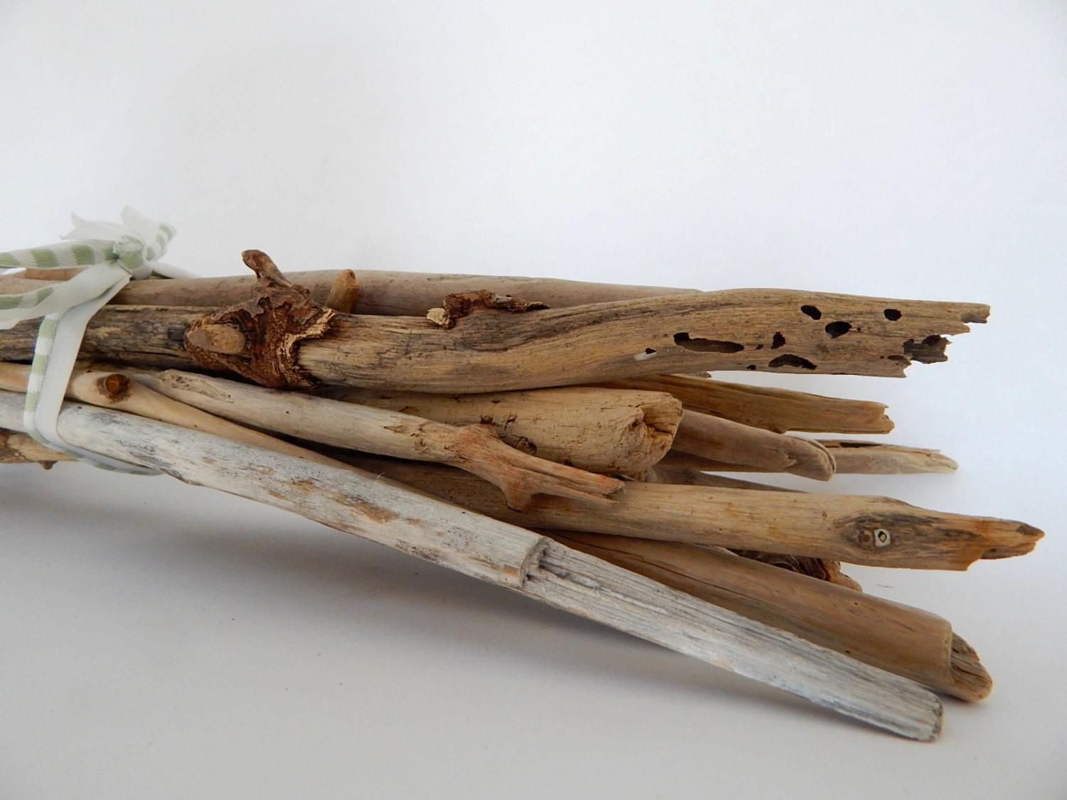Long Maine Driftwood Thick Beach Sticks Inches