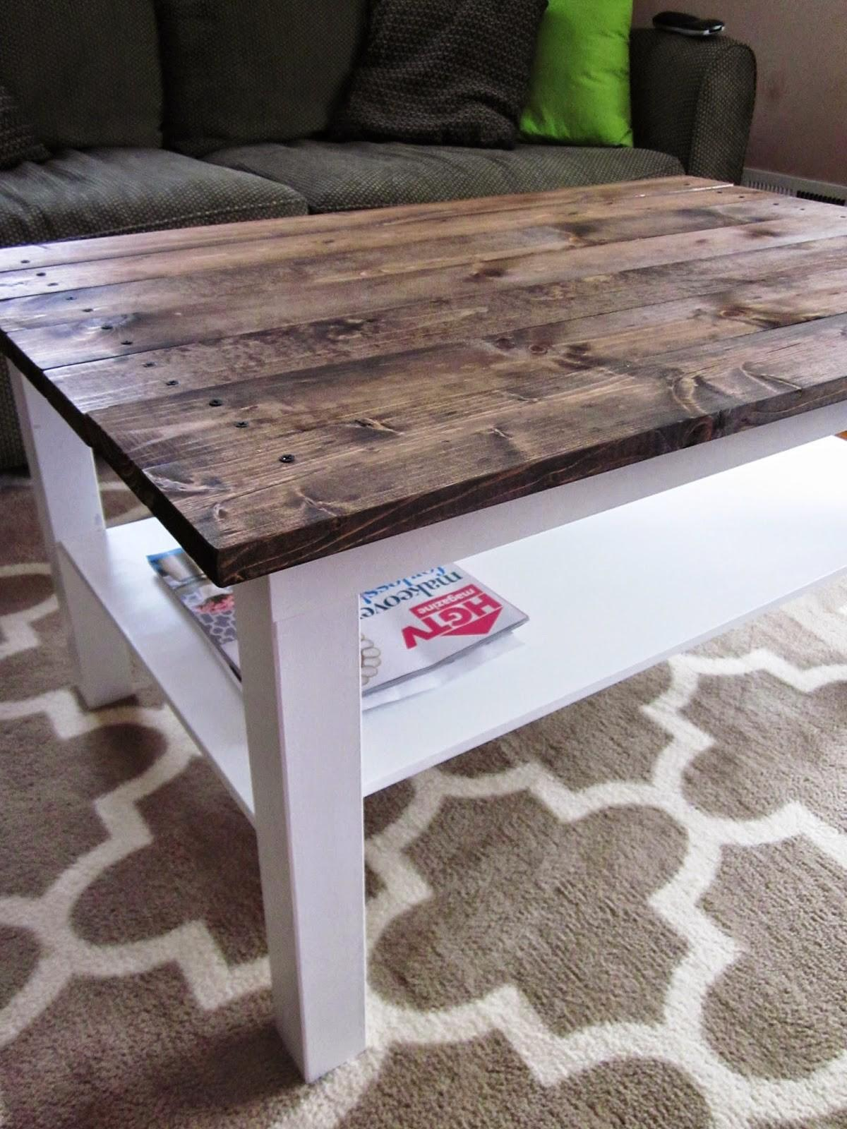 Long Story Coffee Table Makeover Wood Plank