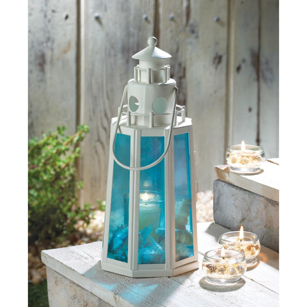 Lookout Lighthouse Candle Lantern Wedding Centerpiece