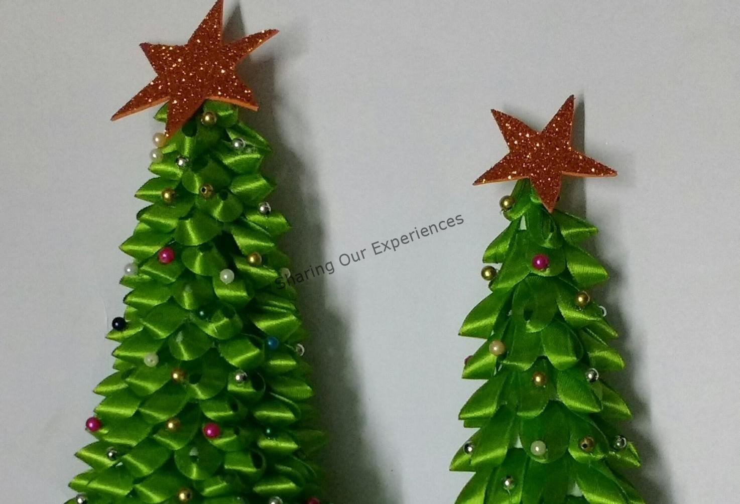 Looped Ribbon Diy Christmas Tree Sharing Our Experiences