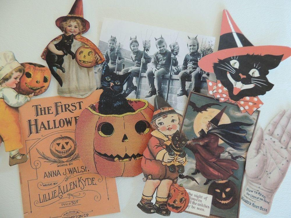 Lot Adorable Vintage Halloween Die Cuts Crafts