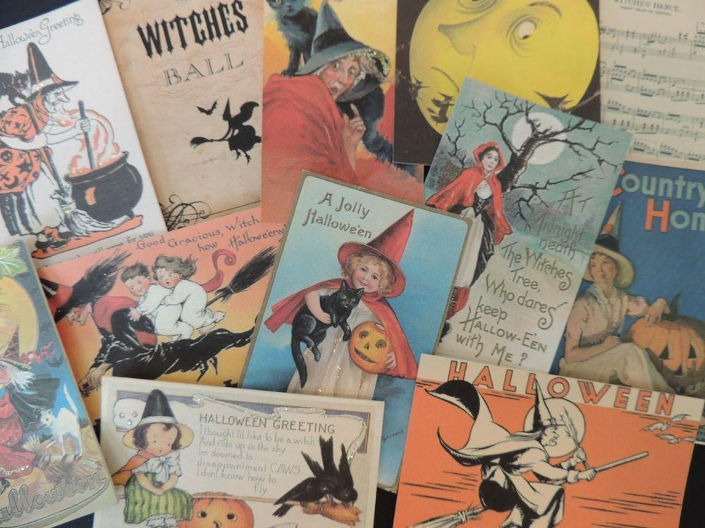 Lot Vintage Halloween Witches Witch Die Cuts