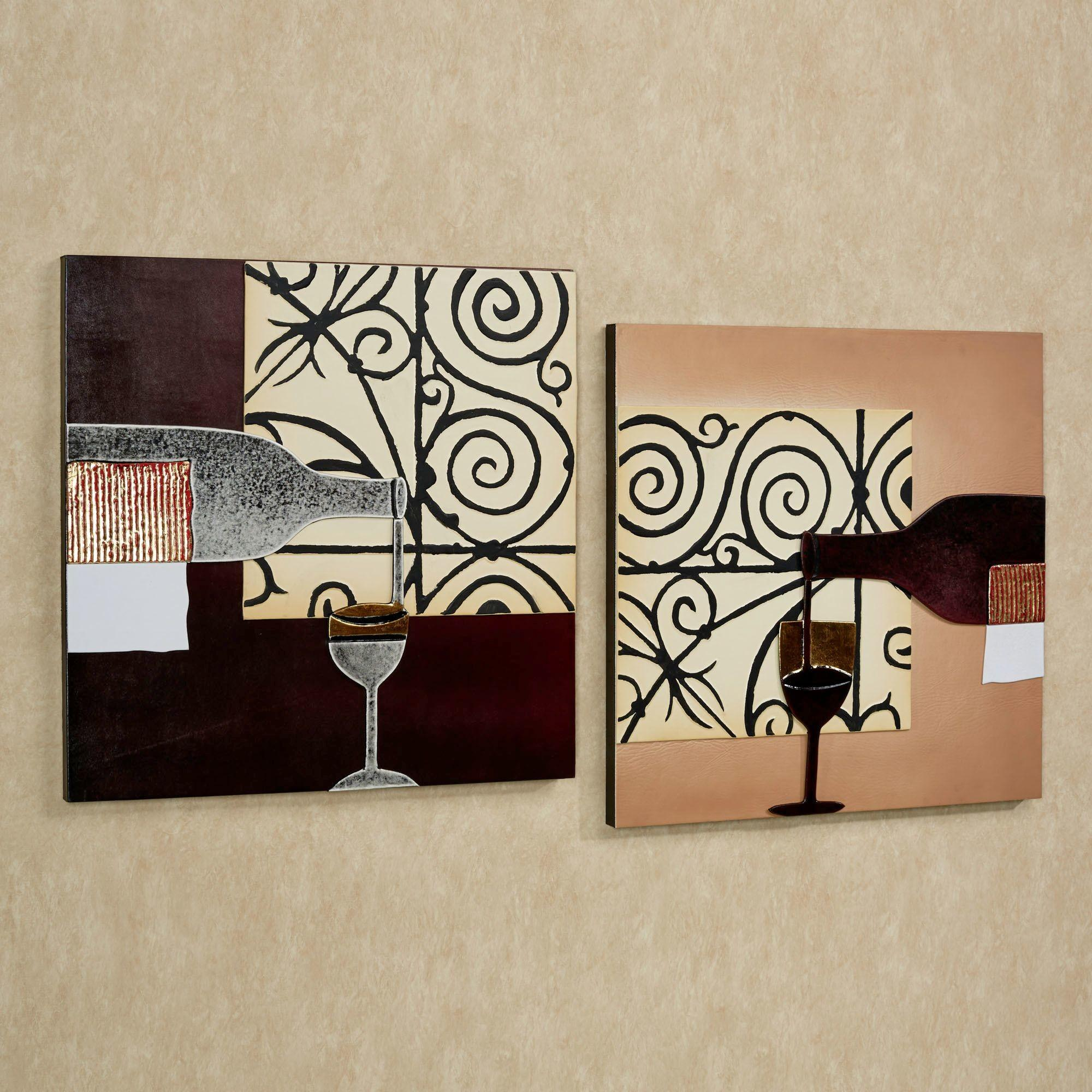 Lovable Pieces Artwork Portray Kitchen Wall Decor