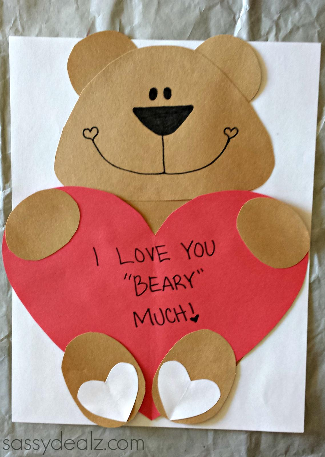 Love Beary Much Valentine Bear Craft Kids