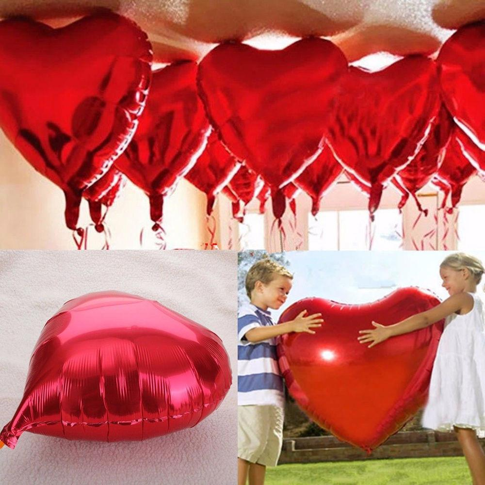 Love Heart Foil Helium Balloons Wedding Party Birthday