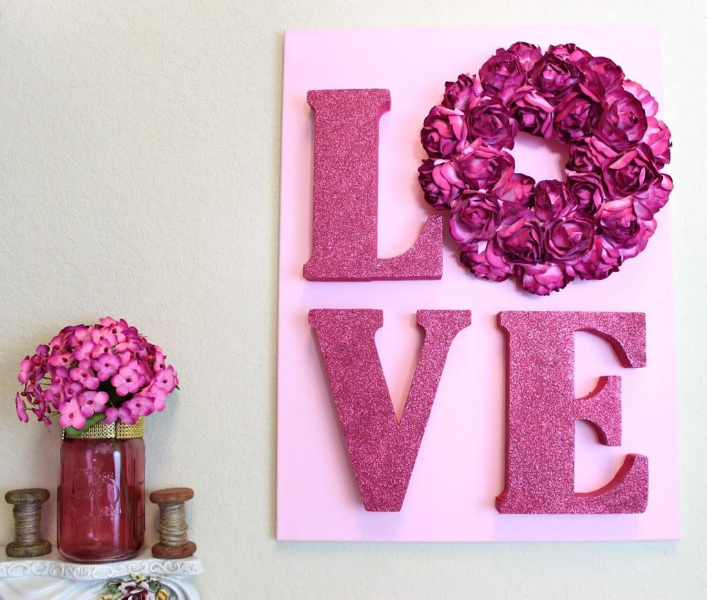 Love Letters Wall Art Diy Valentine Day Morena