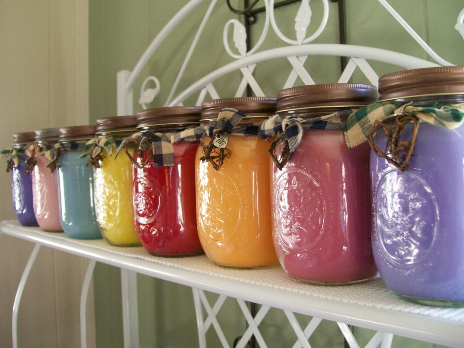 Love Spell Scented Mason Jar Candle Freshcountrycandles