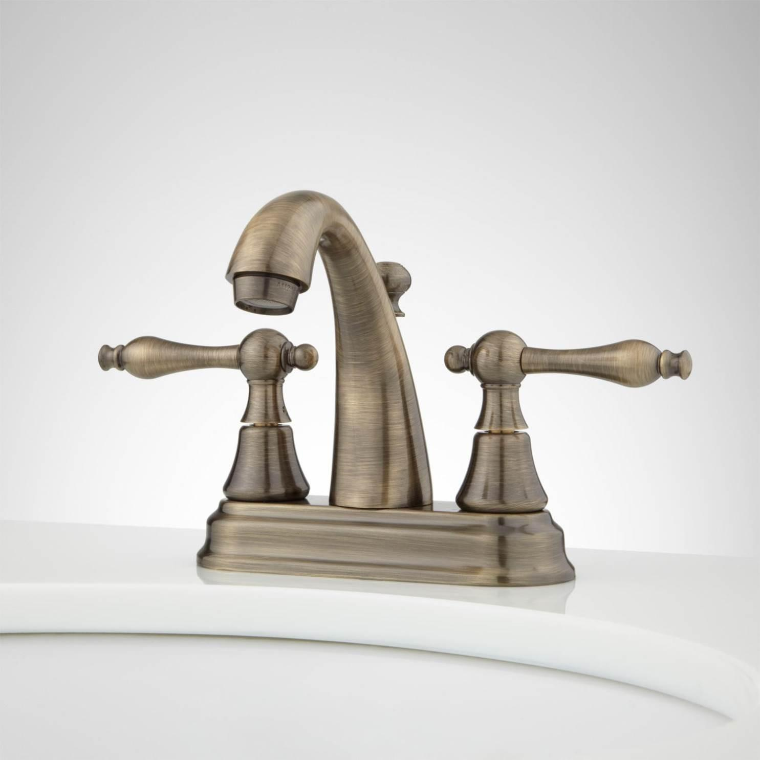 Lovely Antique Brass Bathroom Faucets