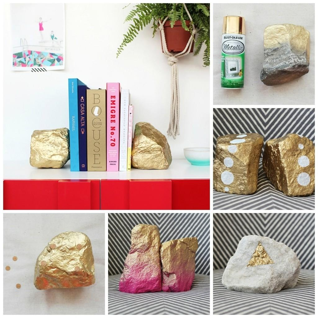 Lovely Diy Bookends Adorn Your Shelves