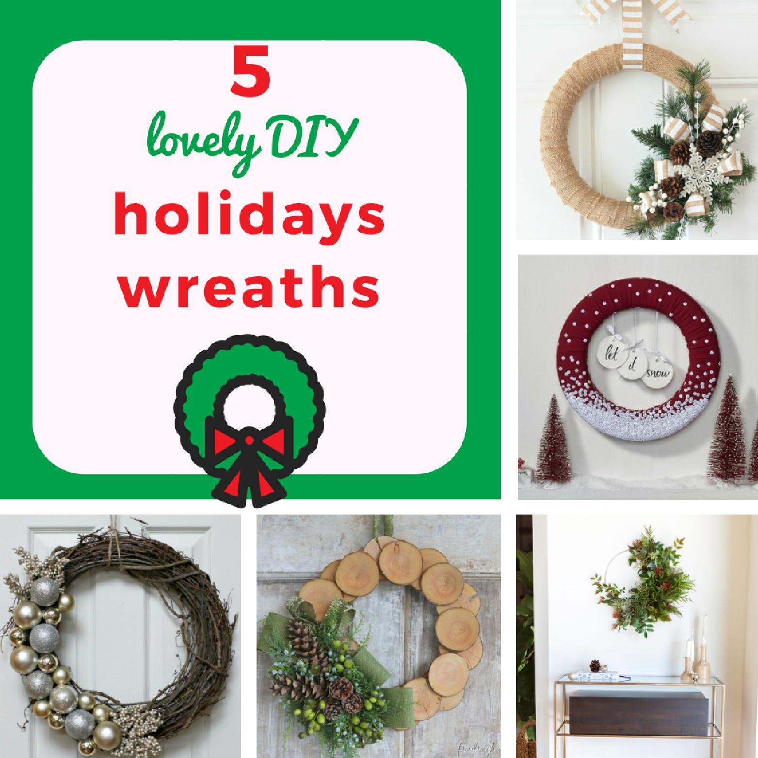 Lovely Diy Holidays Wreaths Keeping Real