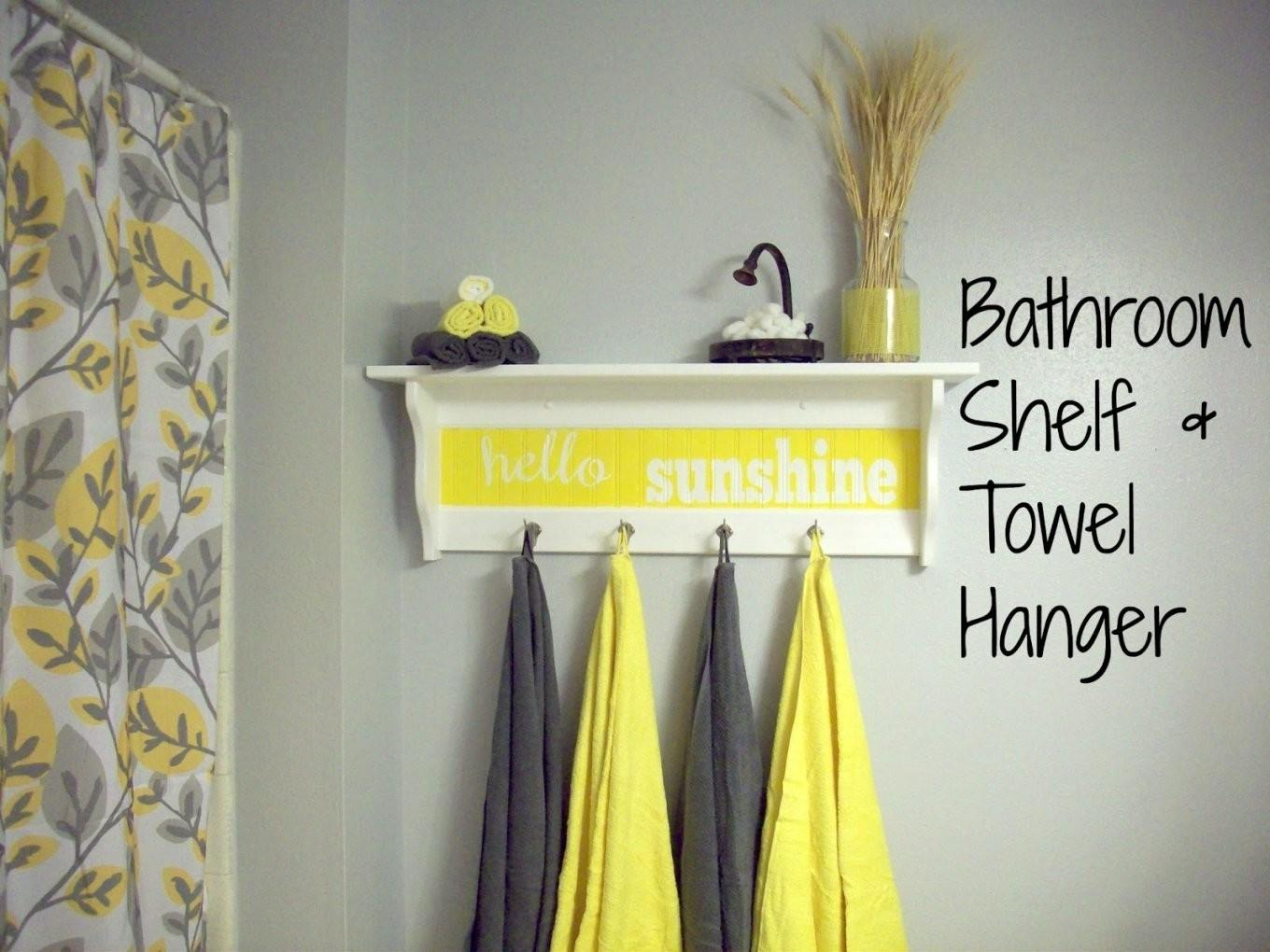 Lovely Gray Yellow Bathroom Ideas Small