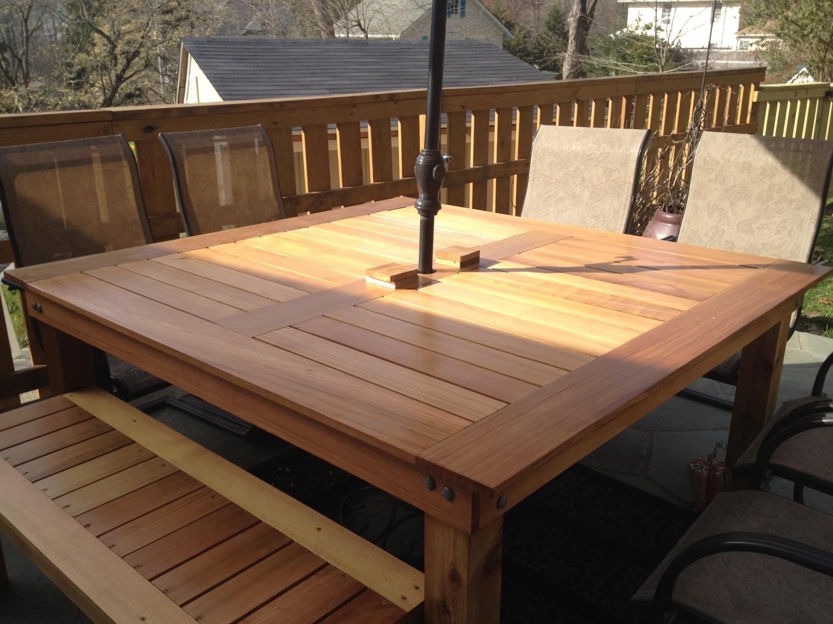 Lovely Patio Table Plans Ana White Simple Square Cedar