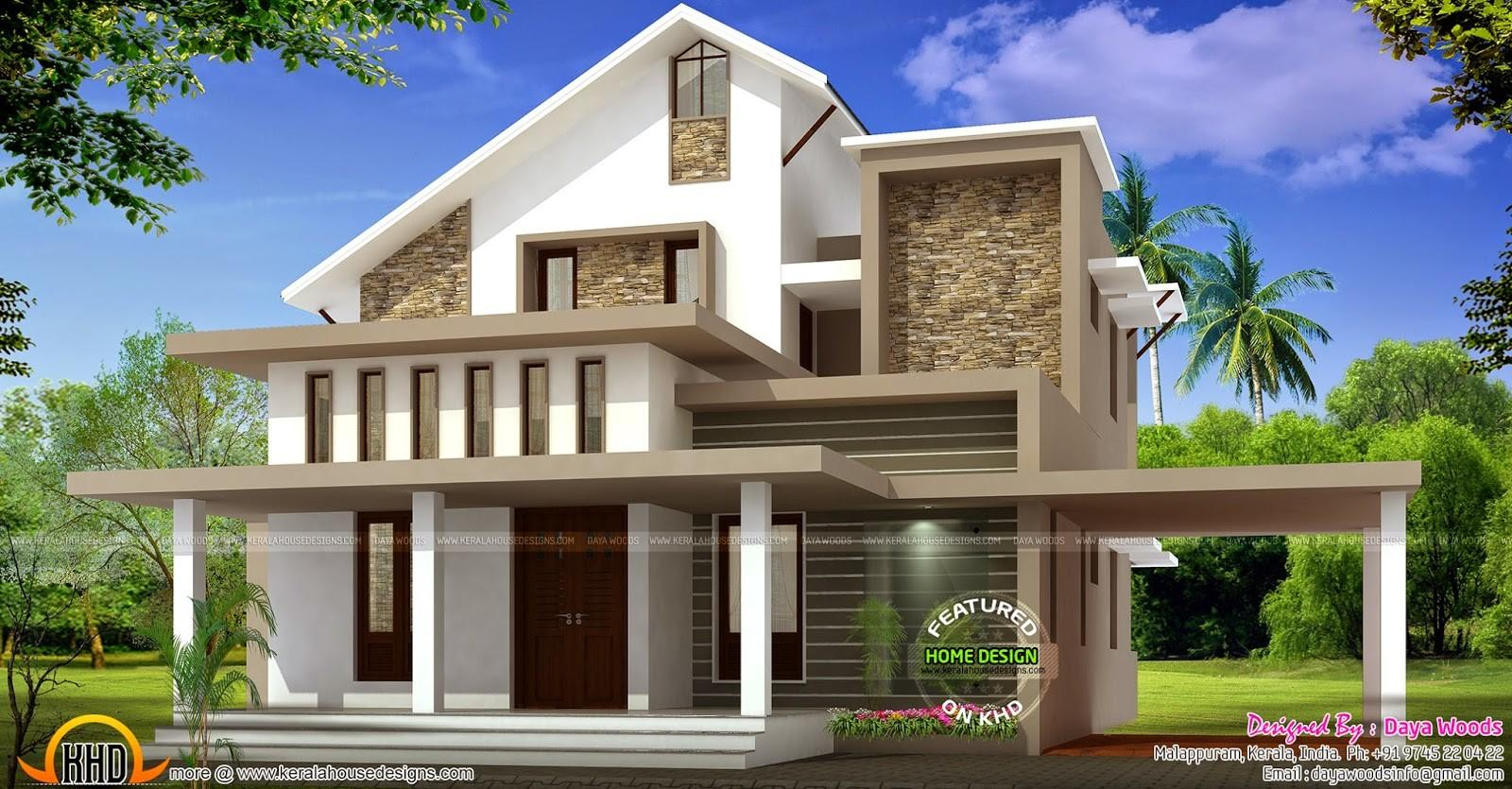 Low Budget Semi Contemporary Home Kerala Design