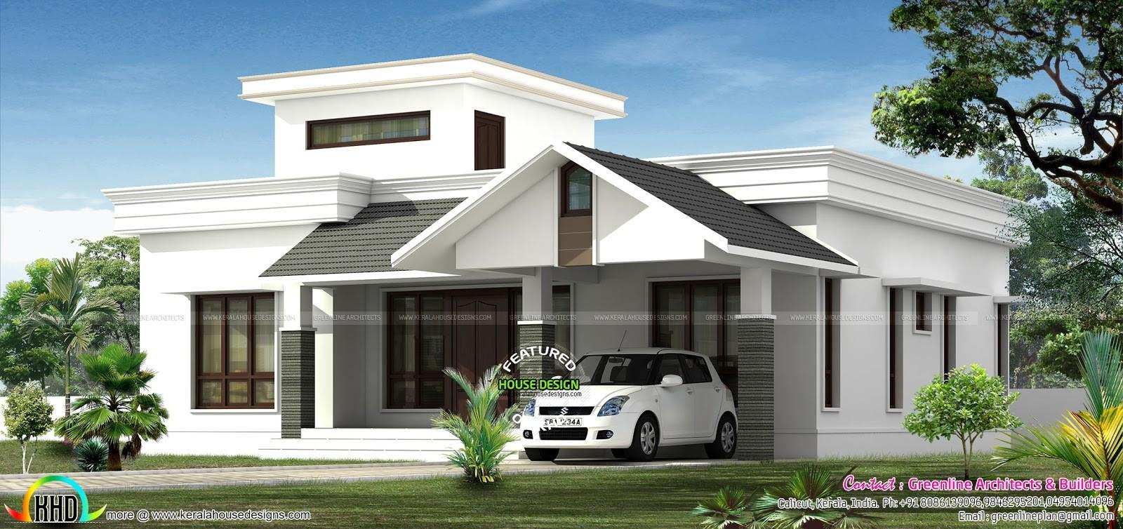 Low Budjet Single Floor House Design Two Side Views