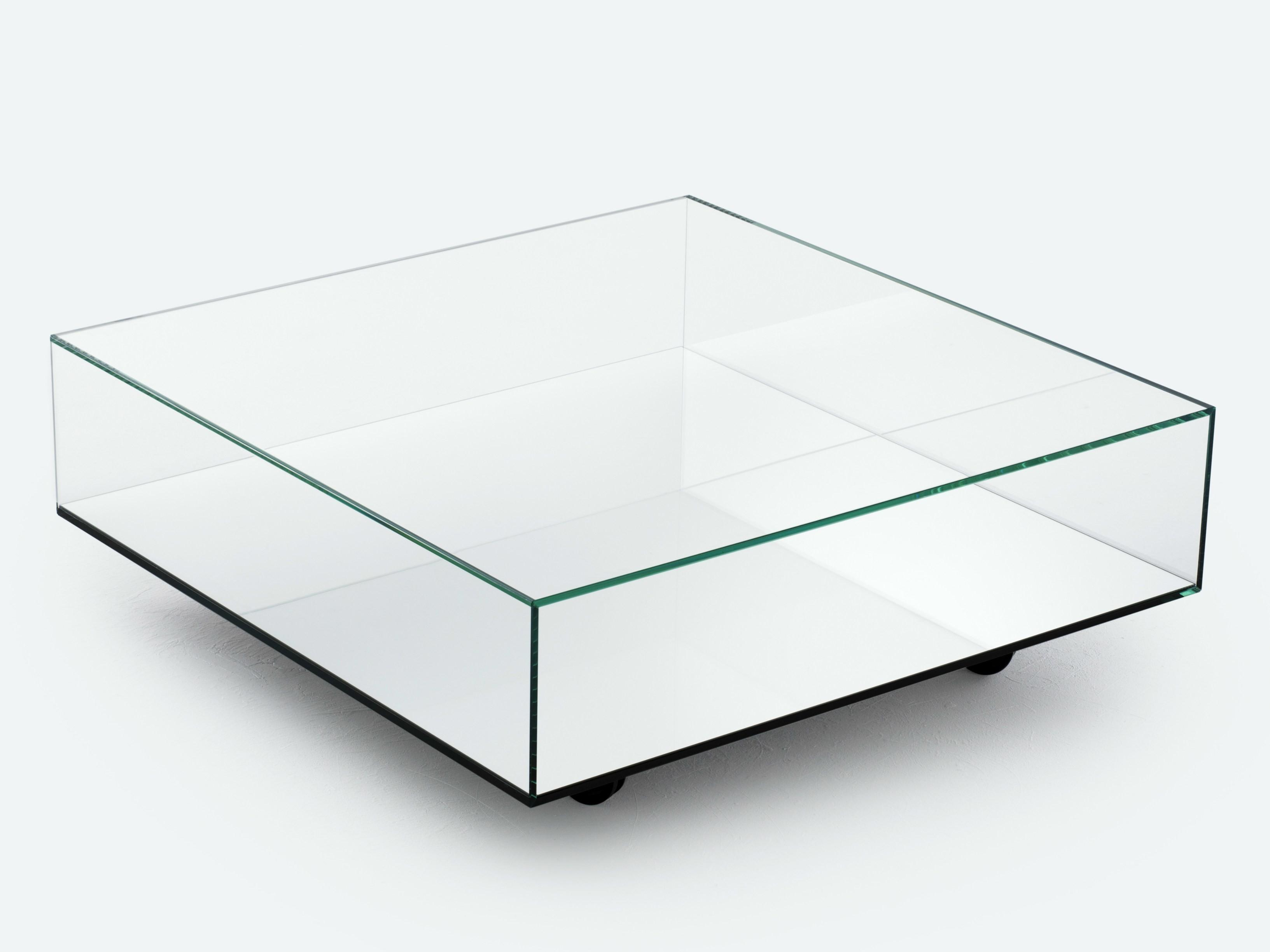 Low Mirrored Glass Coffee Table Reflect Bensen