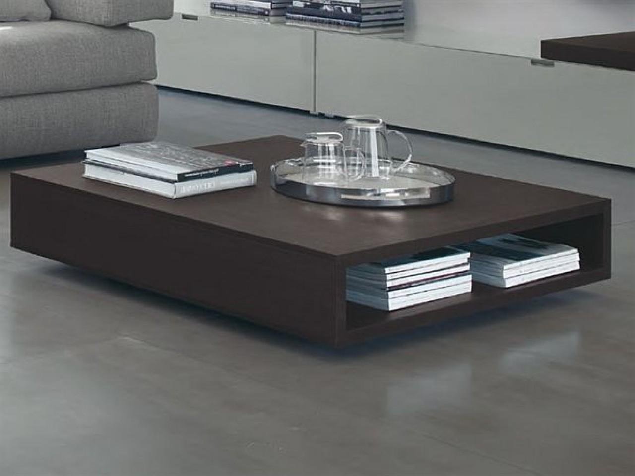 Low Modern Coffee Tables Wooden Table