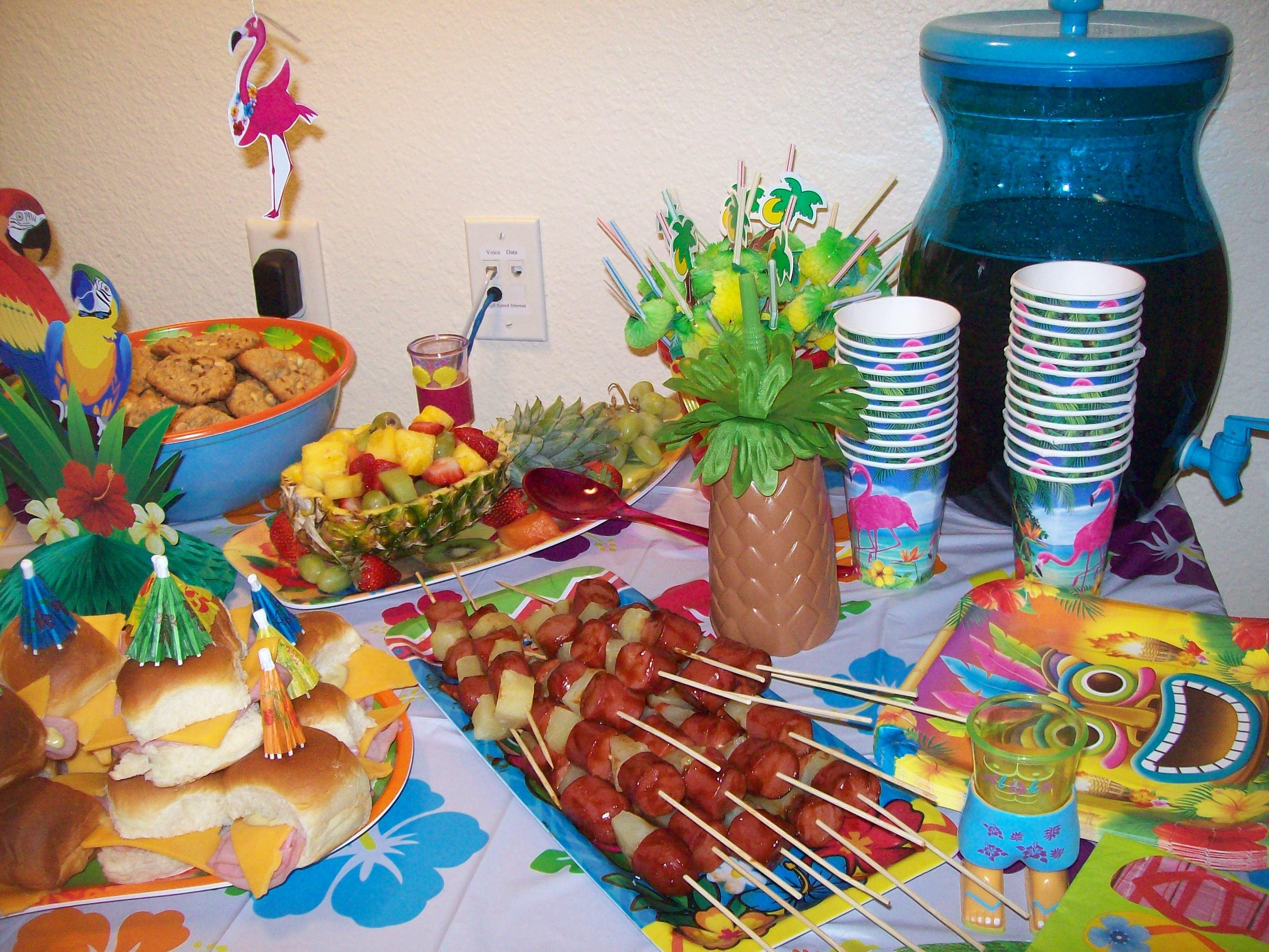 Luau Party Foods Mama Kitchen Table