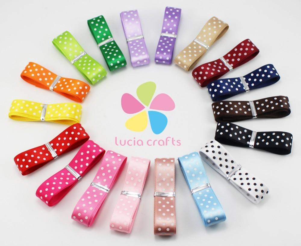 Lucia Crafts 10mm Multi Options Polka Dots Pattern Printed