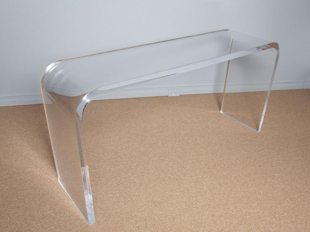Lucite Console Tables 70s Lucites Waterfall Consoles Table