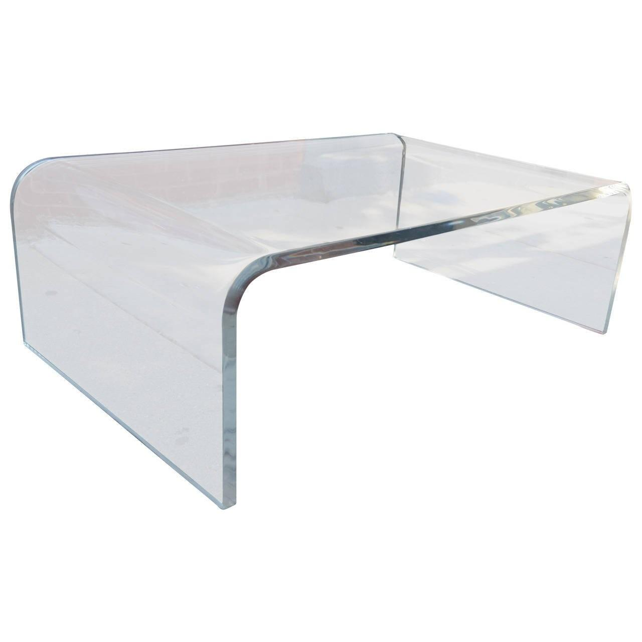 Lucite Waterfall Coffee Table 1stdibs