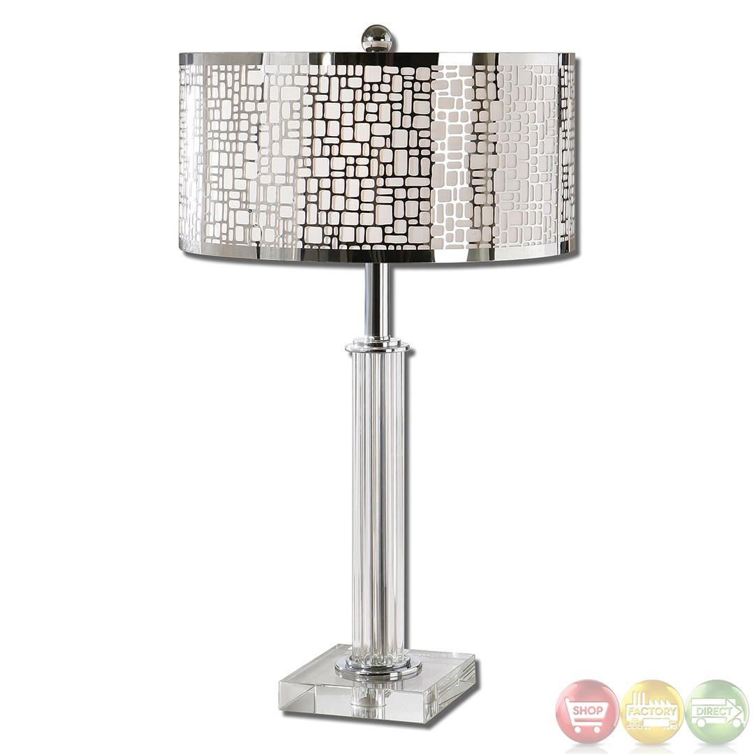 Lucius Polished Chrome Contemporary Table Lamp