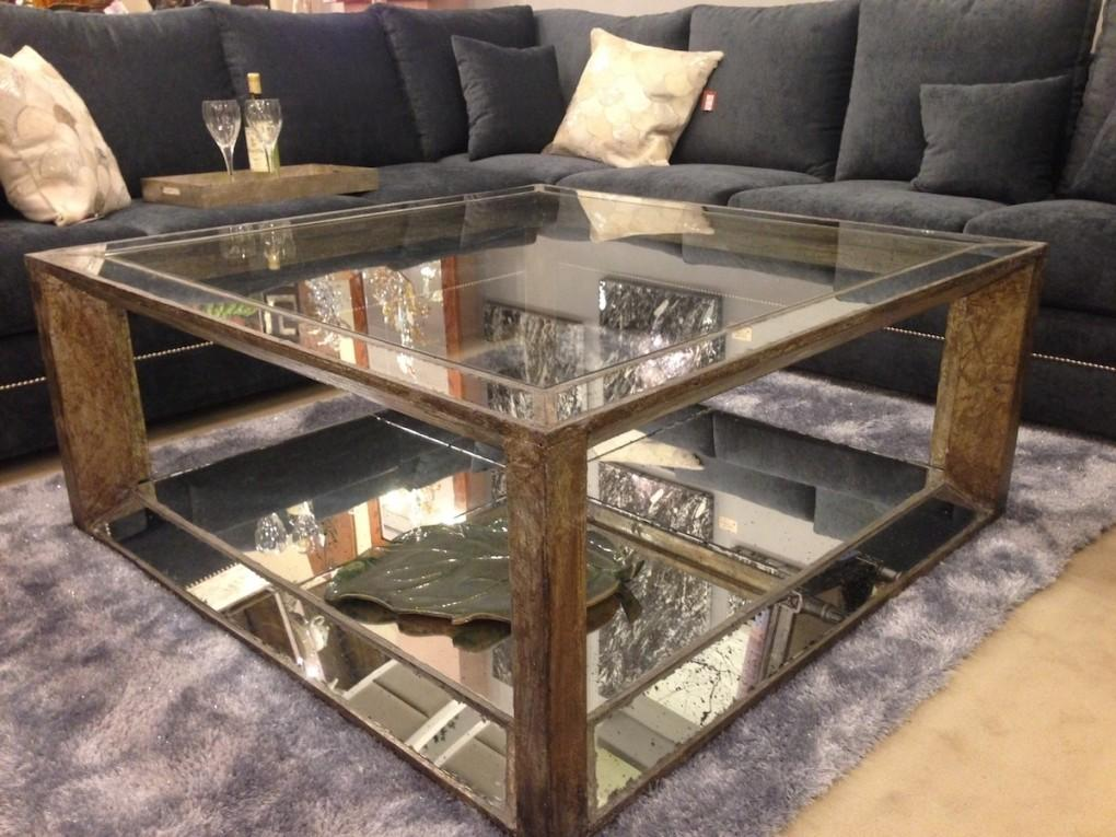 Lucy Mirrored Coffee Table Diy