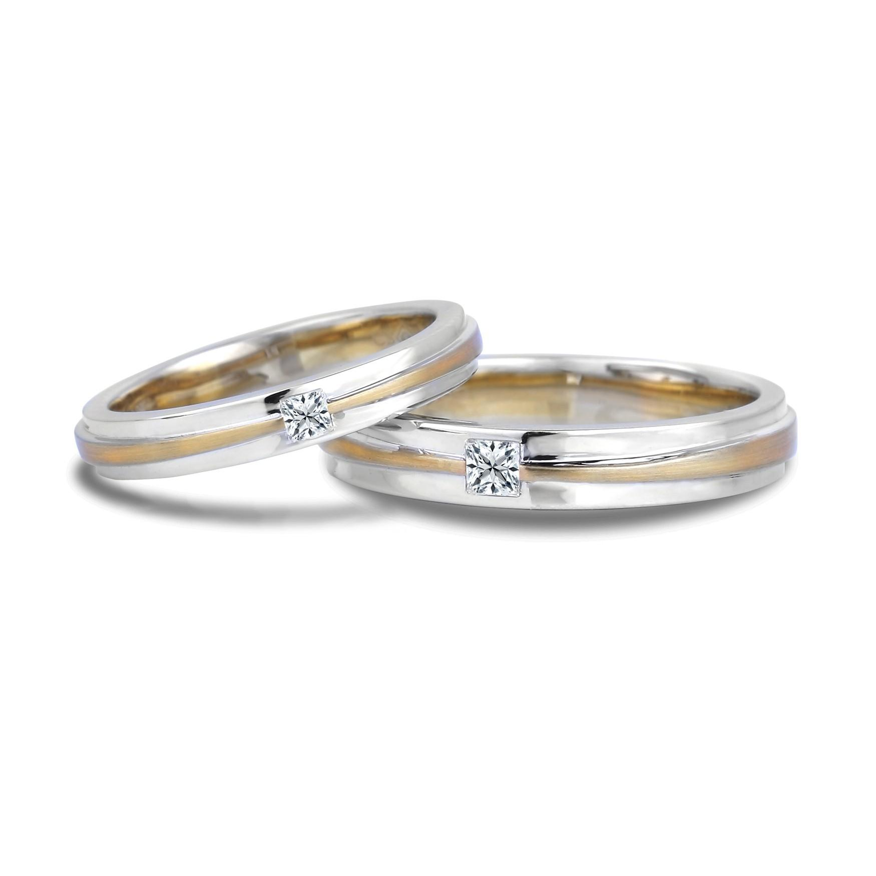 Lugaro His Hers Matching Wedding Bands