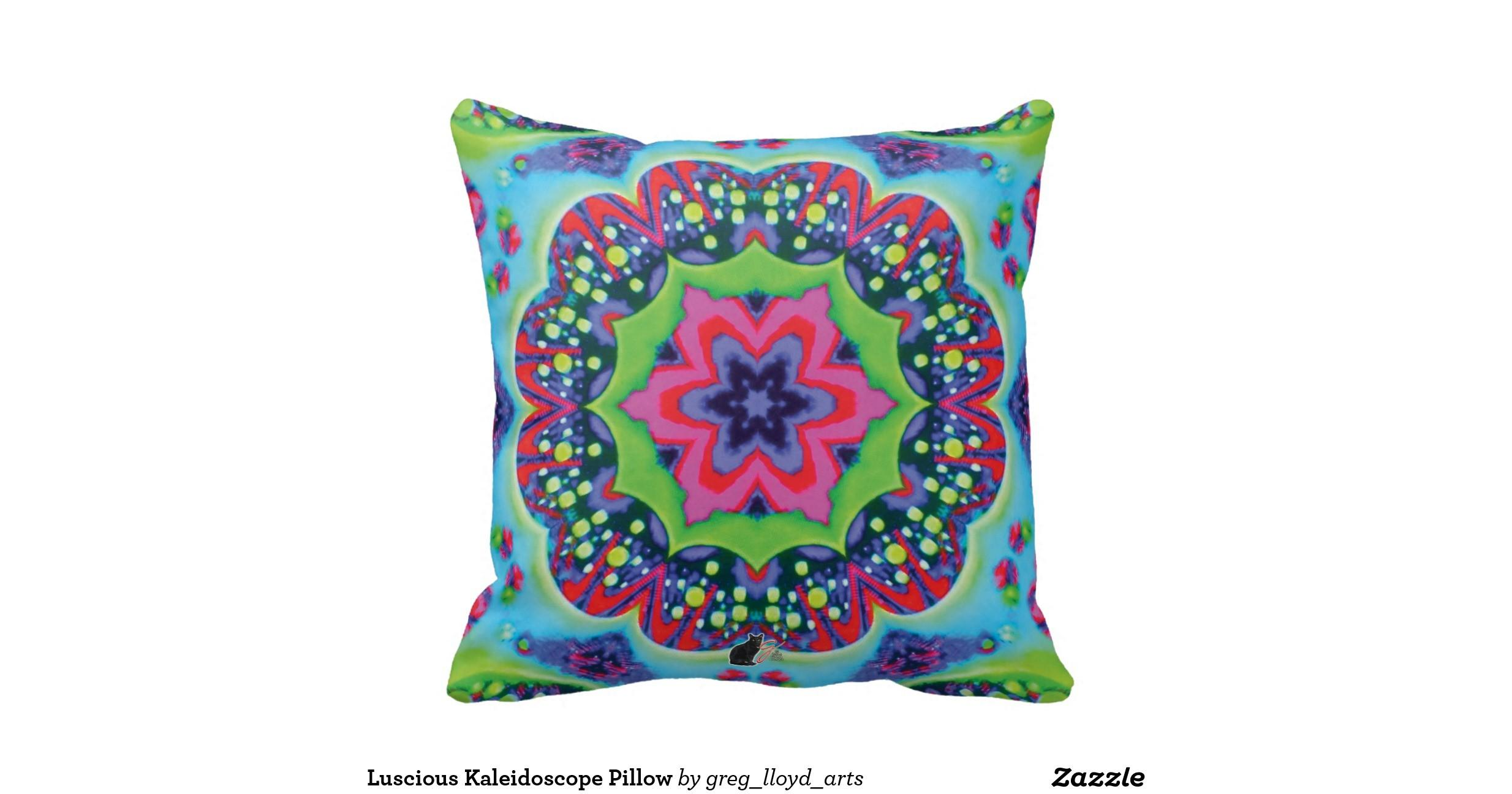 Luscious Kaleidoscope Pillow Zazzle