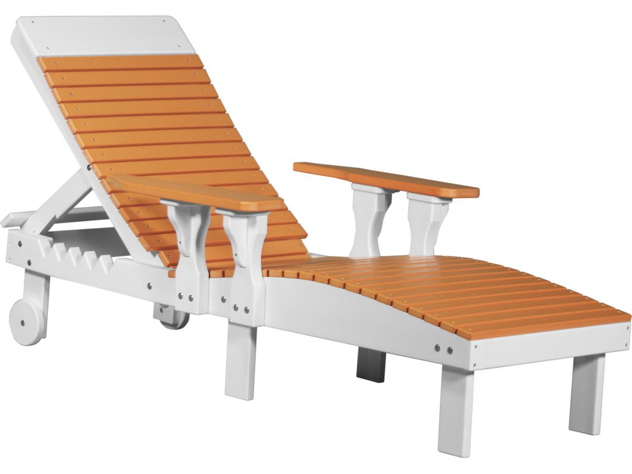Luxcraft Recycled Plastic Chaise Lounge Luxplc