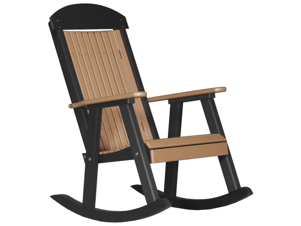 Luxcraft Recycled Plastic Porch Rocker Luxppr