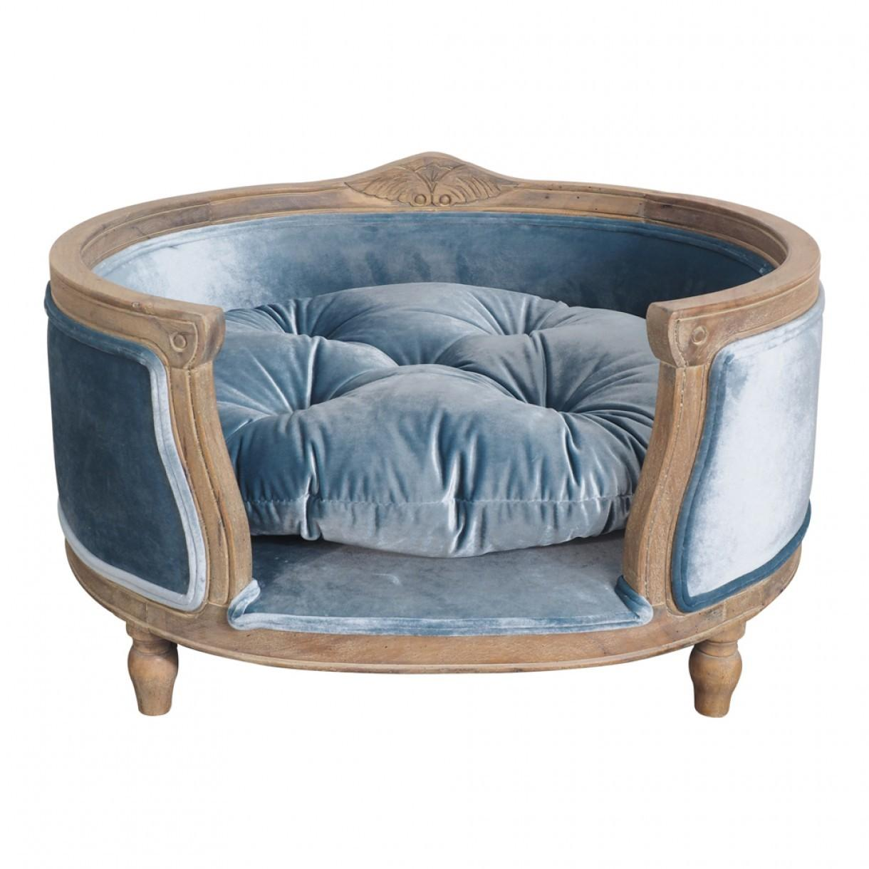 Luxe Dog Bed Soft Teal Pet Accessories Homewares