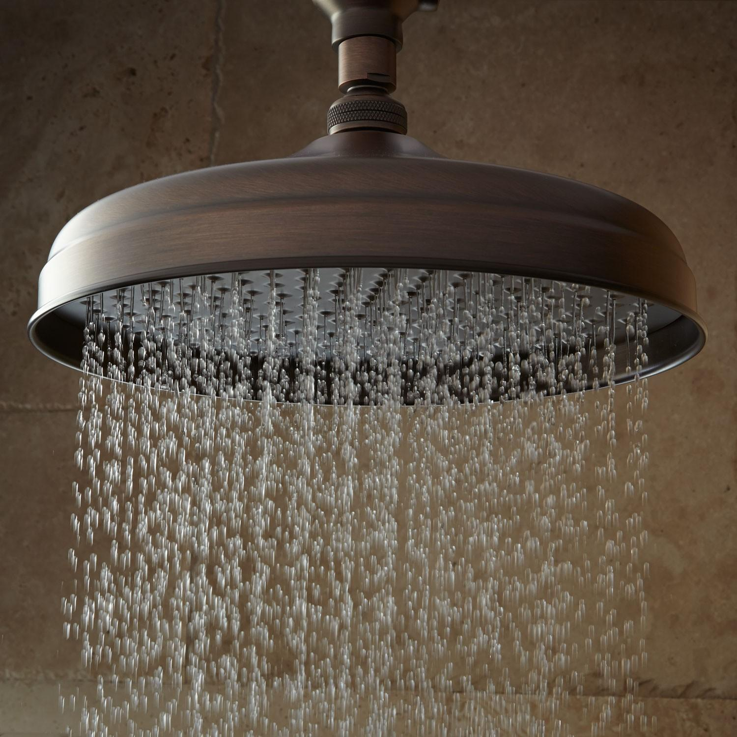 Luxurious Brushed Bronze Vintage Style Ceiling Rain Shower