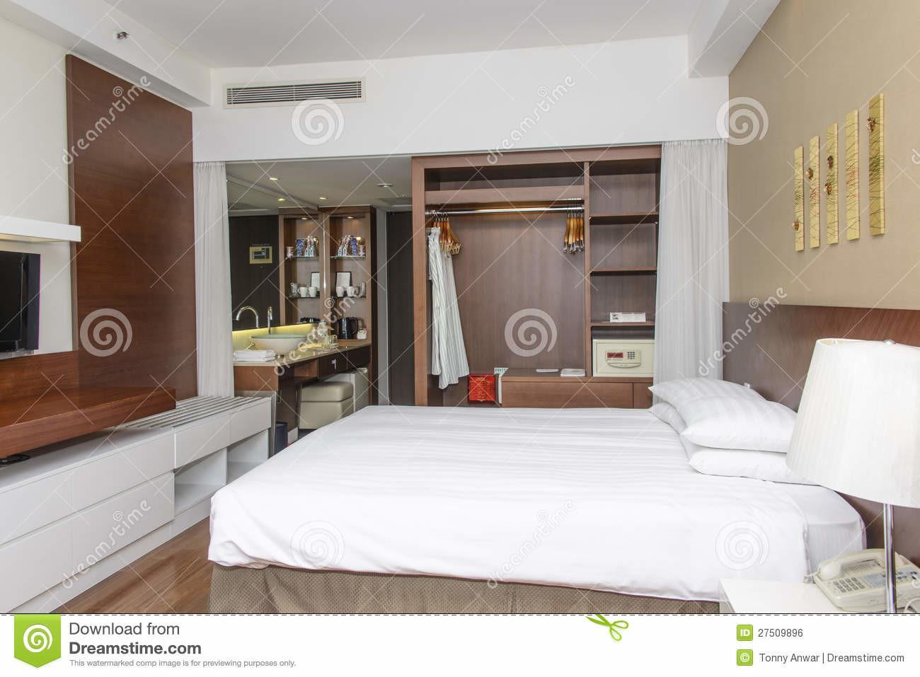Luxurious Modern Hotel Room Stock