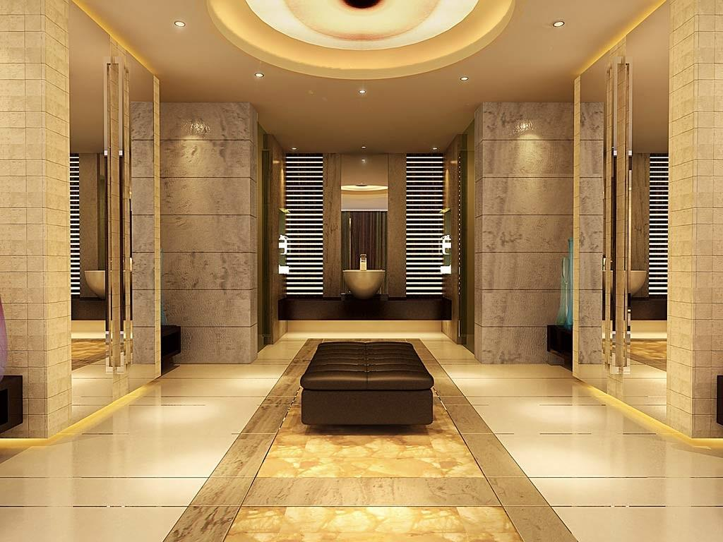 Luxury Bathroom Gold Color Interior Design Decosee