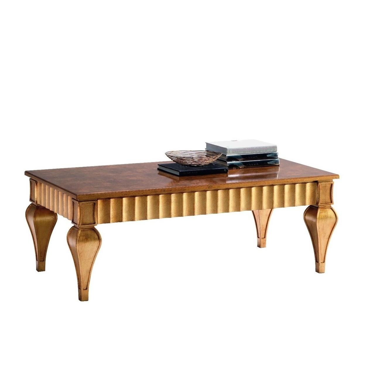 Luxury Coffee Table Gold Black
